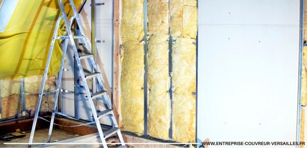 isolation combles et mur avec laine de verre