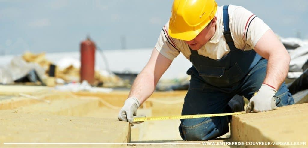 mesure de l'isolant pour une isolation de toiture