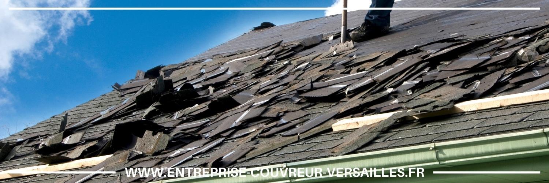 toiture endommagée réparé Croissy-sur-Seine
